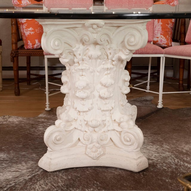Glass Late 20th Century Round Dining Table For Sale - Image 7 of 8