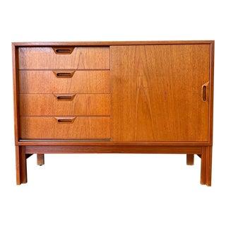 Danish Modern Teak Record Cabinet For Sale