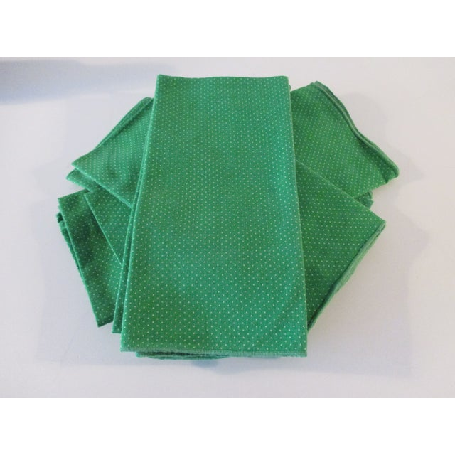 Set of Eight (8) Vintage Dinner Cotton Blend Napkins For Sale - Image 4 of 5