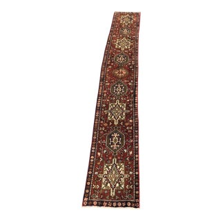 1970s Vintage Persian Karajeh Runner Rug - 2′1″ × 14′5″ For Sale