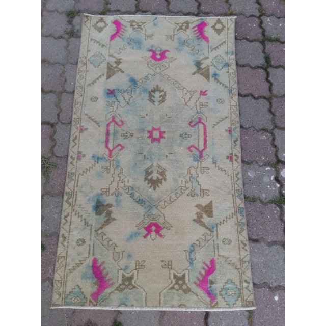 Anatolian Oushak rug Organic wool 30 years old In Excellent condition Professionally cleaned and ready to use Ready to...