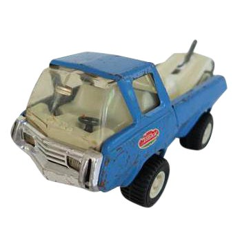 Vintage Blue Tonka Tow Truck Toy For Sale