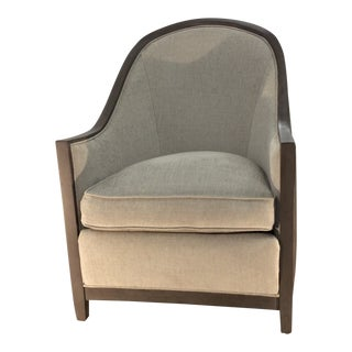 Modern Lee Industries Glamorous Leather and Velvet Club Chair For Sale