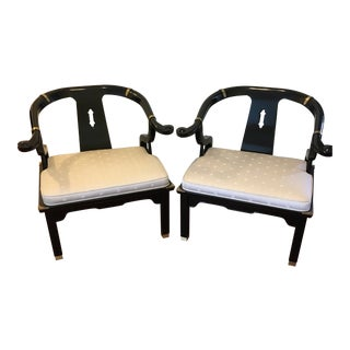 Century Chair Co. James Mont Ming Style Chairs - a Pair For Sale