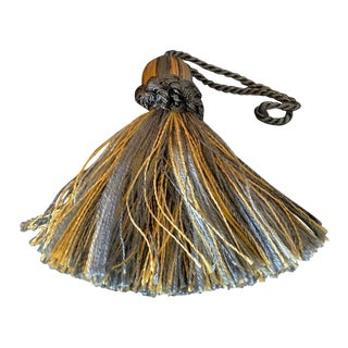 1990s Small Blue and Yellow Key Tassel For Sale