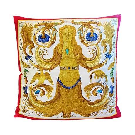 Custom Hermes Ceres Mermaid Silk Pillow Cushion - Image 1 of 8