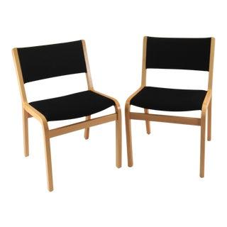 1980's Danish Modern Rud Thygesen & Johnny Sorensen Dining Chairs - A Pair For Sale