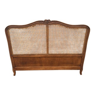 Vintage French Style Cane Headboard