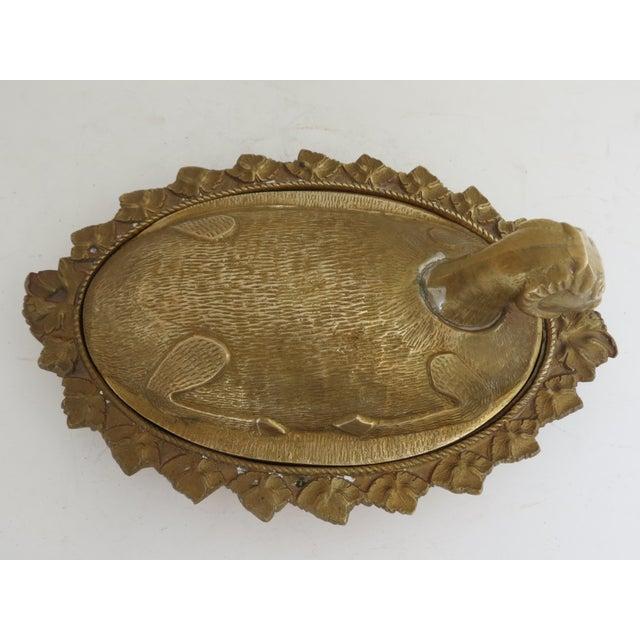 Mid-Century Brass Ram Vessel - Image 3 of 7