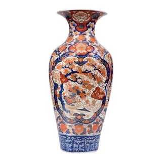 Late 19th Century Large Japanese Imari Porcelain Vase For Sale