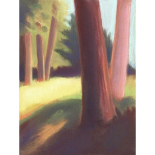 Park in Berkeley Hills Pastel Painting For Sale