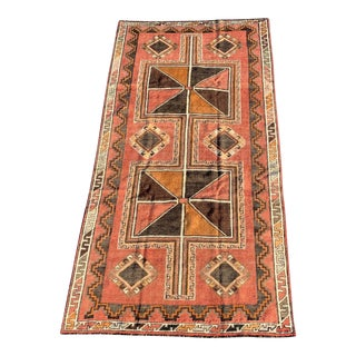 1950s Vintage Kurdish Rug - 4′9″ × 9′5″ For Sale
