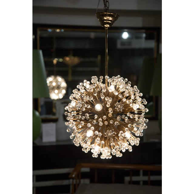 "Crystal ""Snowflake"" Crystal Chandelier by Emil Stejnar For Sale - Image 7 of 11"