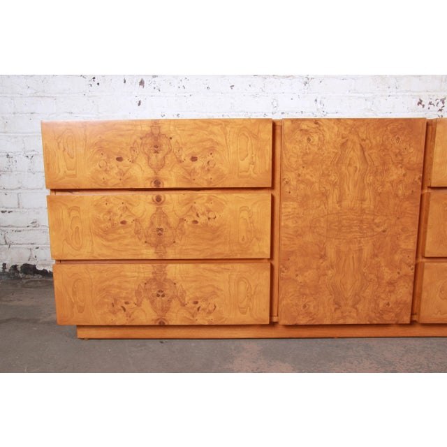 Burl Wood Credenza by Lane Furniture For Sale - Image 9 of 13