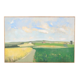 Mid-C. Pastoral Landscape by Raymond Coumans For Sale