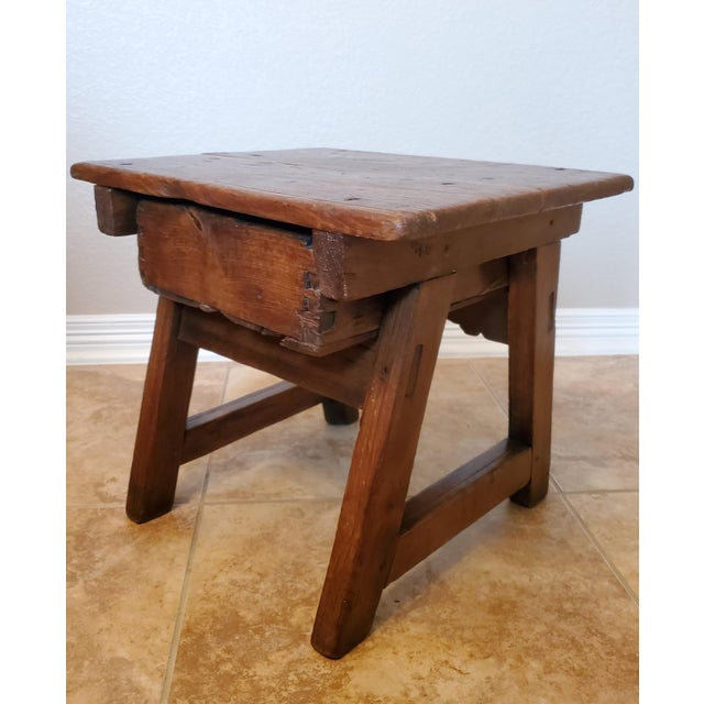 Early 18th Century Spanish Colonial Rustic Small Table For Sale - Image 9 of 12