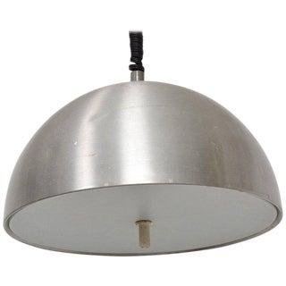 Mid-Century Modern Italian Pendant Light Aluminum Adjustable For Sale