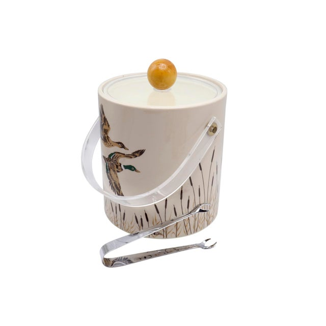 Mid-Century Modern Ice Bucket With Matching Tumblers - Set of 8 For Sale - Image 3 of 8