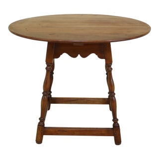 1960s Stickley Oval Cherry Valley Tavern Side Table For Sale