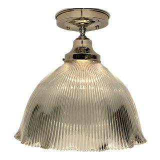 1910s Holophane Semi Flush Light For Sale