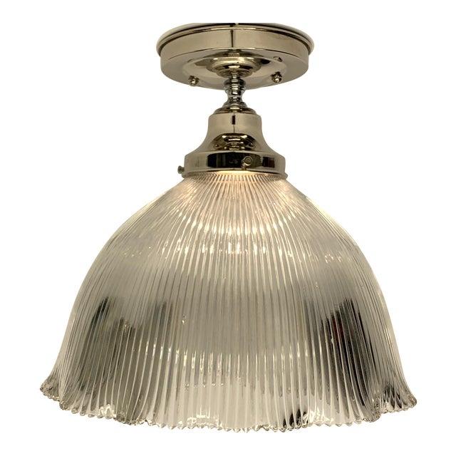 1910s Holophane Semi Flush Light For Sale