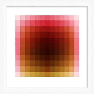 """Color Space Series 37: Hot Pink, Acid Green Print, by Jessica Poundstone 20"""" X 20"""" Preview"""