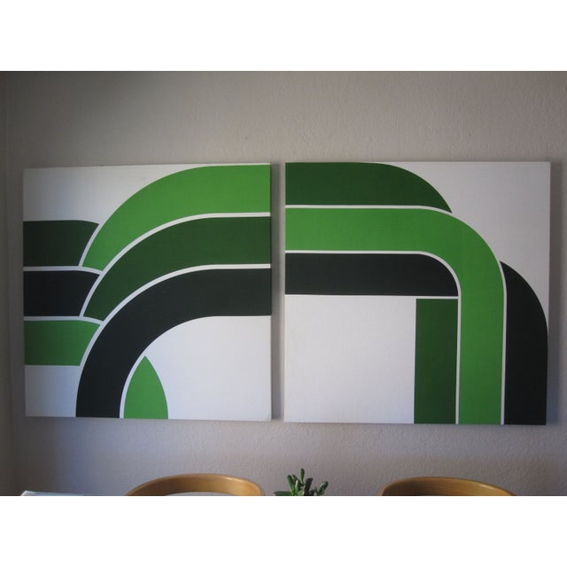 1970s Vintage Green Graphic Prints - Image 3 of 6