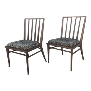 Mid Century Modern Brown Saltman Dining Chairs - a Pair For Sale