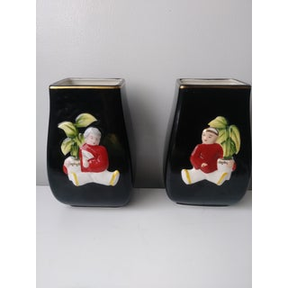 1950's Vintage Royal Sealy Japanese Hand Painted Vases- a Pair Preview