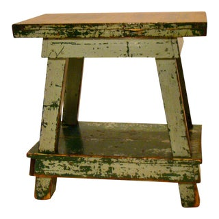 Vintage Shabby Chic Factory Work Table