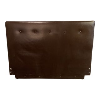 Queen Size Brown Leather Headboard For Sale