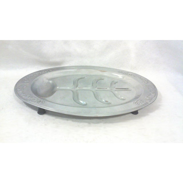 Art Deco Oval Chrome Meat Platter - Image 5 of 6