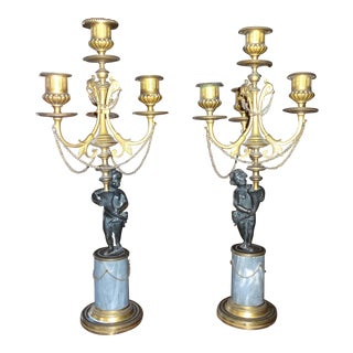 Pair of Louis XVI Period Candelabra For Sale