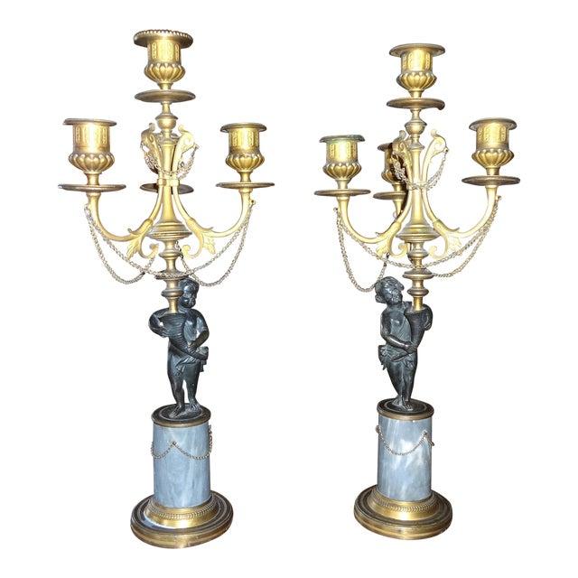 Pair of Louis XVI Period Candelabra For Sale