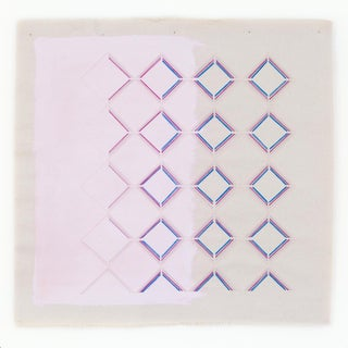 """Modern Pink and Purple Geometric Art Print by Emily Keating Snyder - 16x16"""" For Sale"""