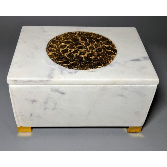 Gold and White Decorative Box For Sale In Providence - Image 6 of 13