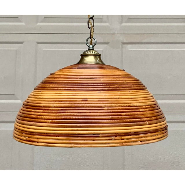 Vintage Bamboo Indoor/Outdoor Ceiling Light For Sale - Image 10 of 12