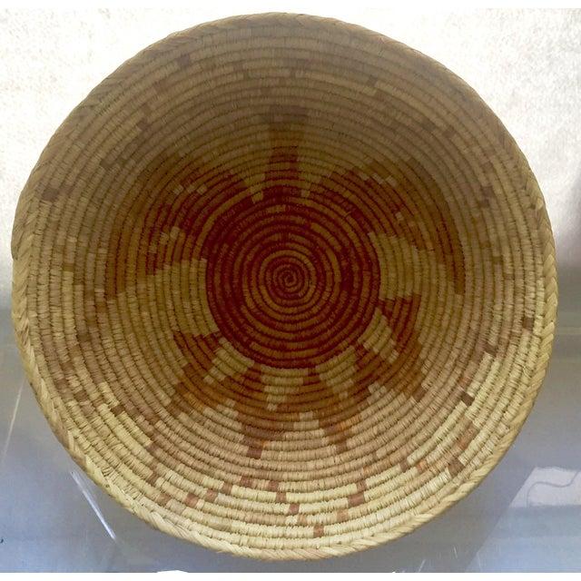 Vintage Native American Apache Pima Coil Basket - Image 5 of 11