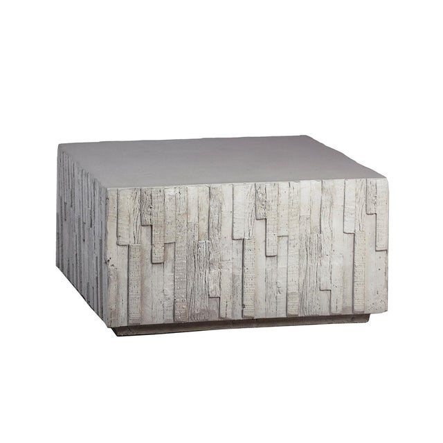 Contemporary Outdoor Square Modern Coffee Table For Sale - Image 3 of 3