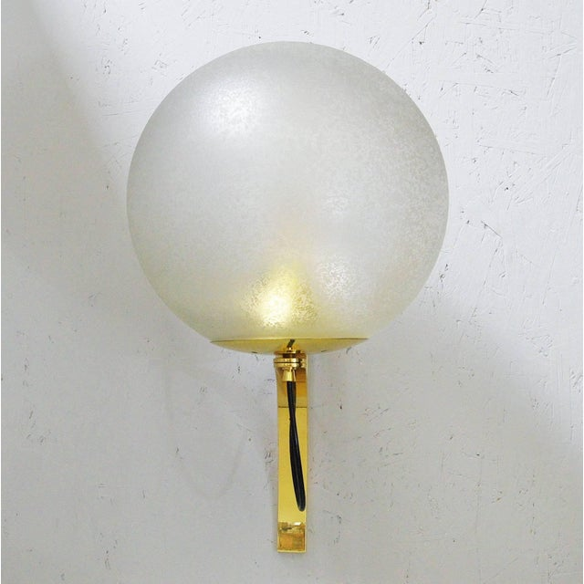 Mid 20th Century Five Large Globe Sconces by Seguso For Sale - Image 5 of 12