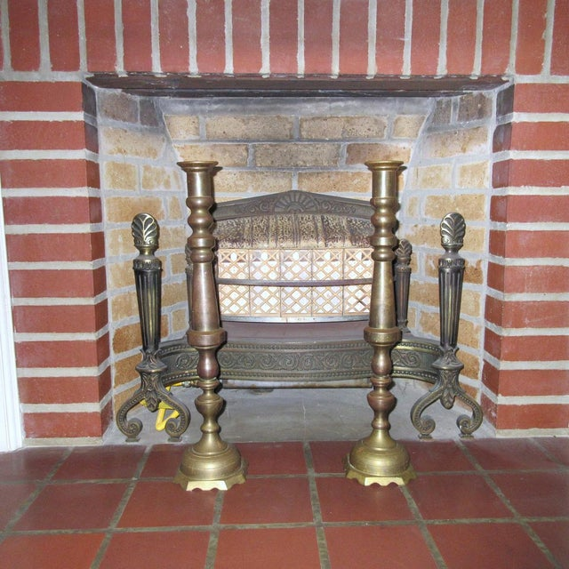 Vintage Tall Brass Candle Holders - A Pair - Image 7 of 7