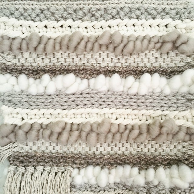 Willow Brooke Neutral Woven Wall Hanging - Image 3 of 4