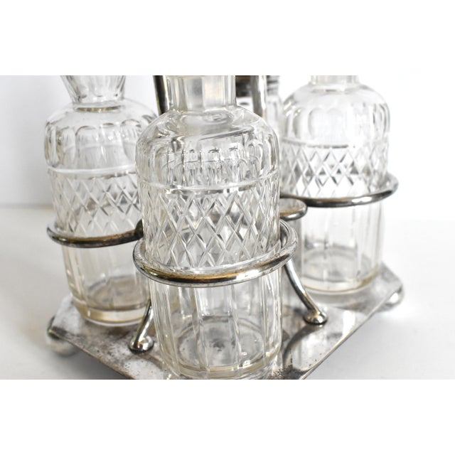 Silver Victorian Condiment Cruet Caddy Set - 5 Piece Set For Sale - Image 8 of 9
