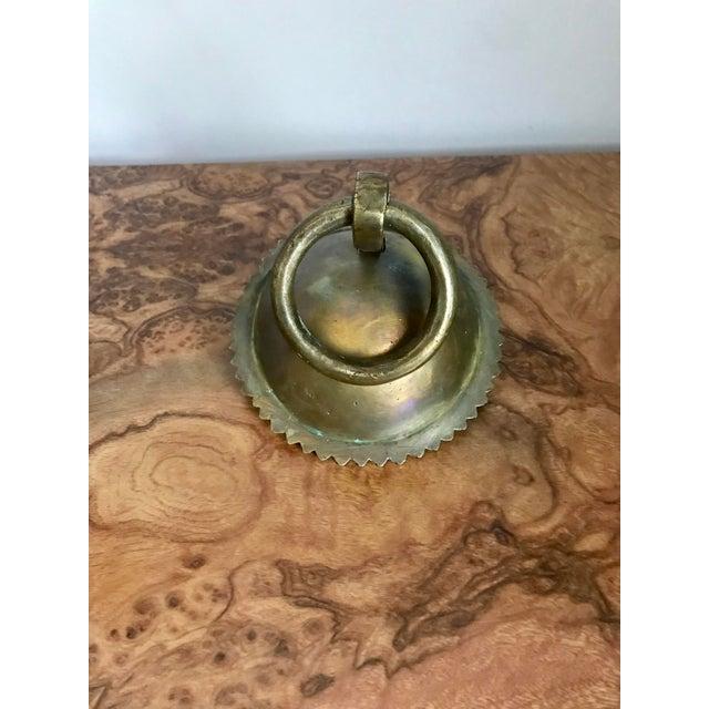 Brass 1920's Solid Brass Door Knocker For Sale - Image 7 of 7