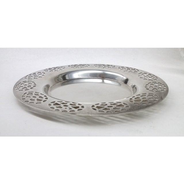 Oneida Silver Cutout Wine Plate - Image 9 of 10