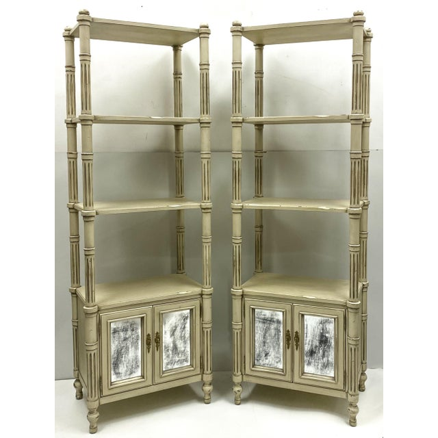 Late 20th-C. Gustavian or Swedish Style Etageres / Bookshelves - Pair For Sale In Atlanta - Image 6 of 6