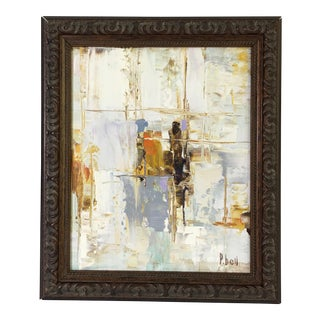P. Bell Contemporary Abstract Oil Painting For Sale