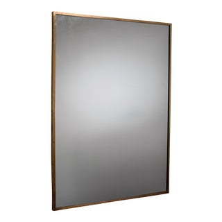 Rectangular Italian Brass Mirror, 1950s For Sale