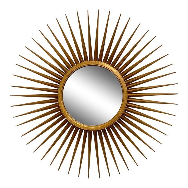 Large Hollywood Regency Parrish-Hadley Sunburst Mirror by Baker Furniture For Sale