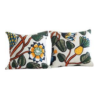 Marimekko Tiara Orange Cushion - a Pair